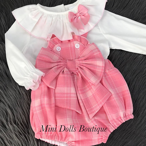 Pink Bow Romper 2 Piece