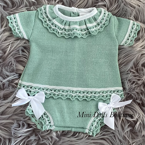 Green Knitted 2 Piece