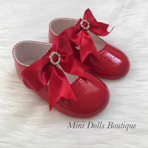 Red Soft Sole Diamante Baypods