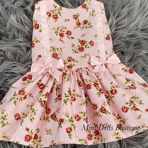 Pink Floral Dropwaist Dress