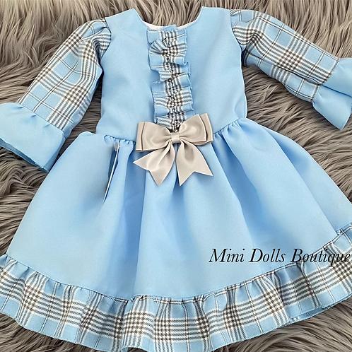 Blue Kinder Dropwaist Dress