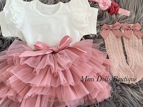Dusky Pink Tutu Set