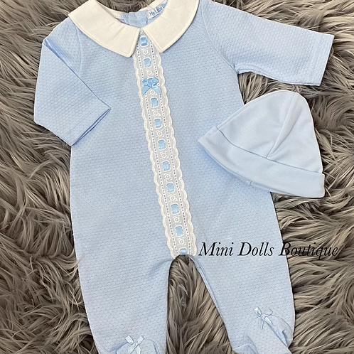 Blue Ribbon Slotted Babygrow Set