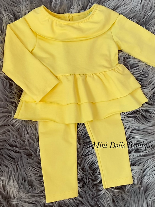 Yellow legging set 3-6m (see description)