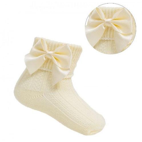 Lemon Ankle Bow Socks