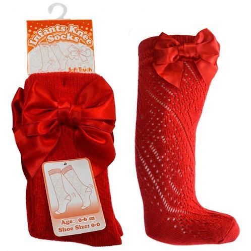 Red Pelerine Bow Socks