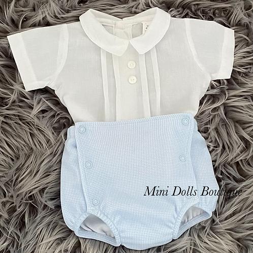 White & Blue Jam Pants set