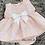 Thumbnail: Pink Ribbon Slotted Dress Set