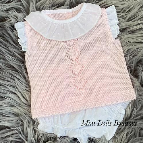 Pink Frill Collar Set