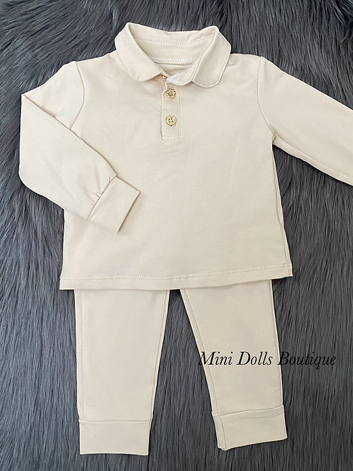 Beige Polo Tracksuit