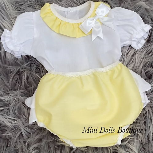 Lemon Bow 2 Piece