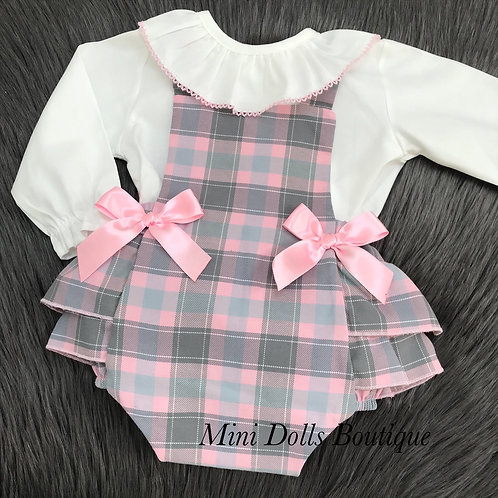 Pink & Grey Check 2 Piece