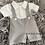 Thumbnail: Grey Bow Tie Shorts Set