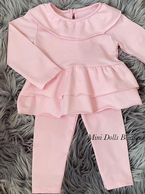 Pink Bow Legging Set