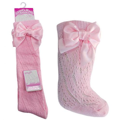 Pink Pelerine Bow Socks