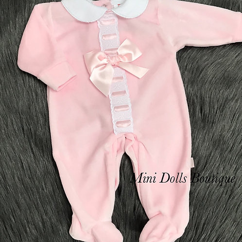 Pink Ribbon Slotted Babygrow