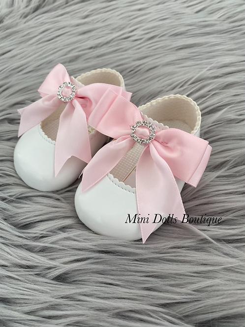 White & Pink Soft Sole Baypods