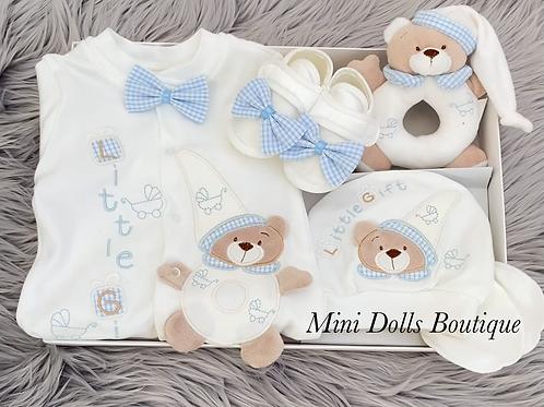 Blue Teddy Gift Set