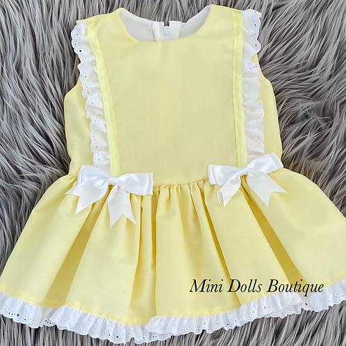 Lemon Double Bow Dress