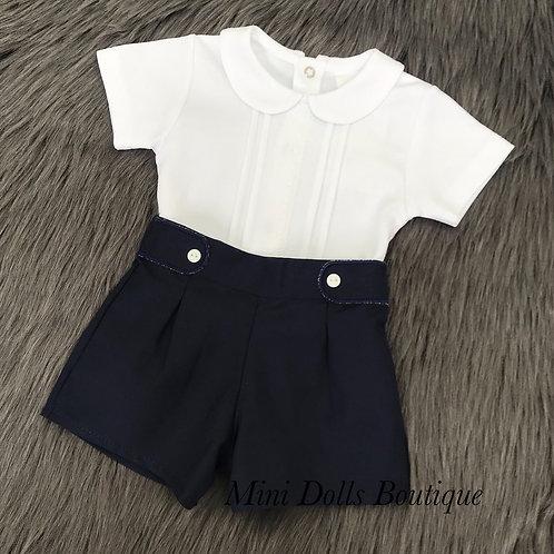 Navy Shorts Set