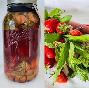 Erdbeer-Rhabarber-Likör