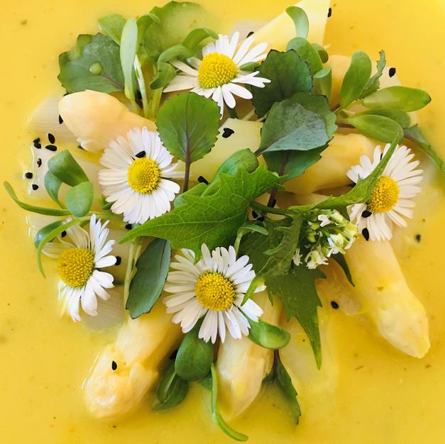 Spargel Curry Kokos Microgreens