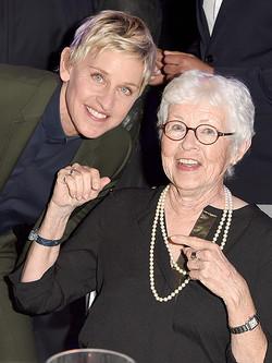 Ellen Degeneres with mom, Betty