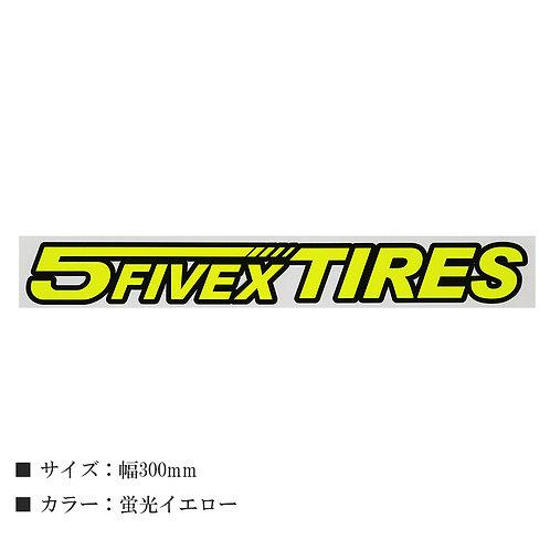 FIVEX TIRES ステッカー W300mm