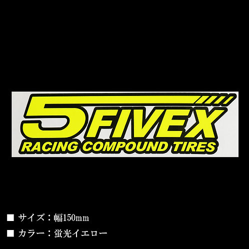 FIVEX RACING COMPOUND TIRES ステッカー W150mm