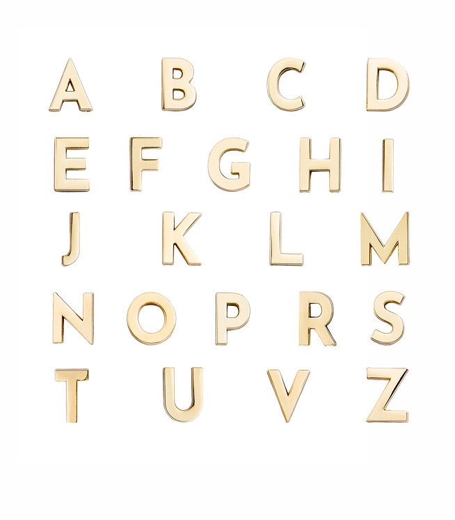 5 Golden Alphabet Pins Of Your Choice