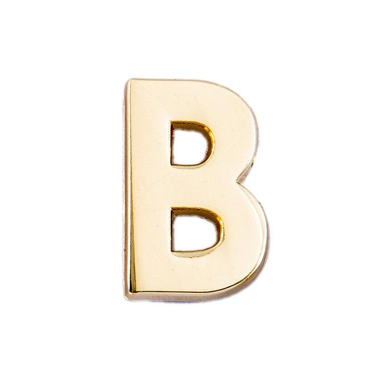 Golden Letter B Pin