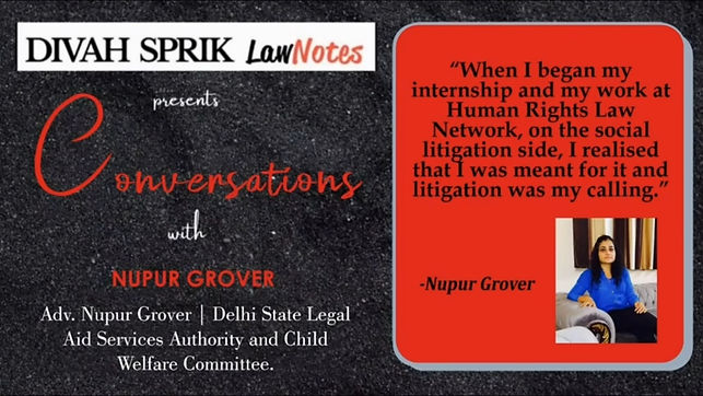 Conversations with Ms Nupur Grover