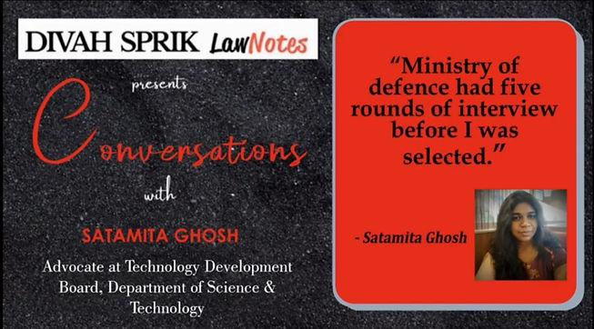 Conversations with Ms Satamita Ghosh