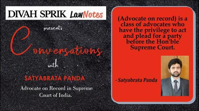 Conversations with Mr. Satyabrata Panda
