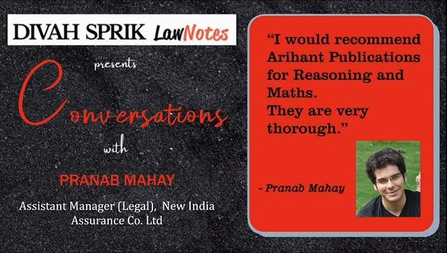 Conversations with Mr.Pranab Mahay