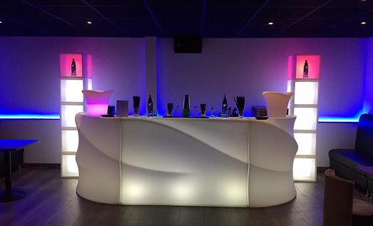 grand bar lumineux