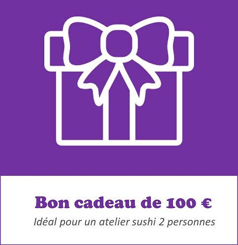 Bon cadeau 100 euros