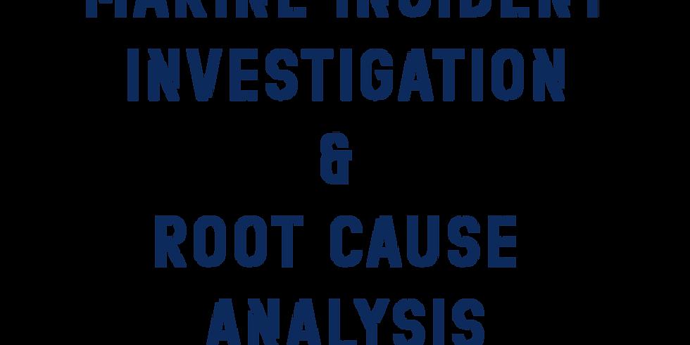Marine Incident Investigation & Root Cause