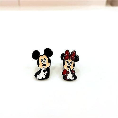 MOOII Disney Ear-Stud Mickey and Minnie