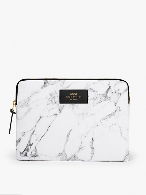 WOUF Ipad Sleeve White Marble