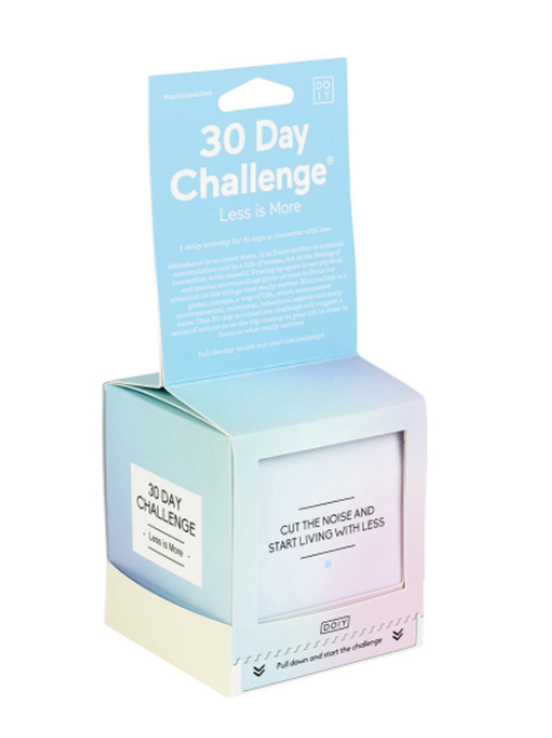 Doiy: 30 Day Challenge - Less Is More