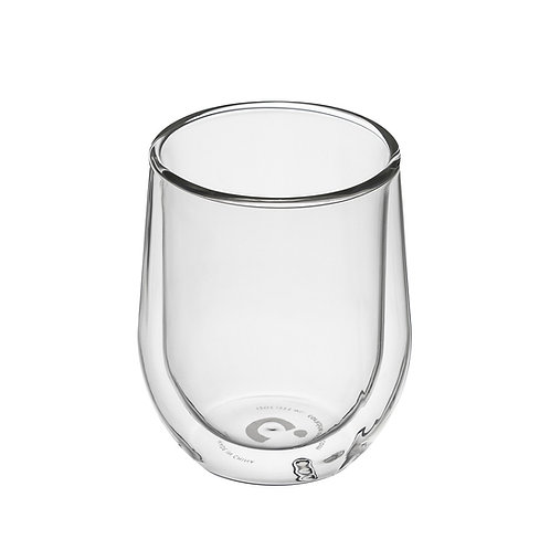 Barware Glass Stemless (Pk Of 2) - Clear Double Walled Glass Cup