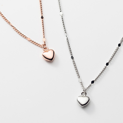 Dedicated Mini Heart Sterling Silver Necklace - MOOII