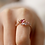 Thumbnail: Hollow Out Lily Flower and Tear Drop Crystal Ring - MOOII