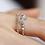 Thumbnail: Double Band Crystal Floral Ring - MOOII