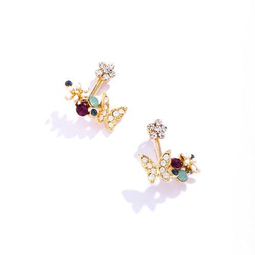 Butterfly Ear Jackets Gold