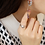 Thumbnail: Flower Bouquet Crystal Dangle Earrings - MOOII