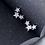 Thumbnail: Triple Twinkle Star Micro-Inlay Sterling Silver Earrings