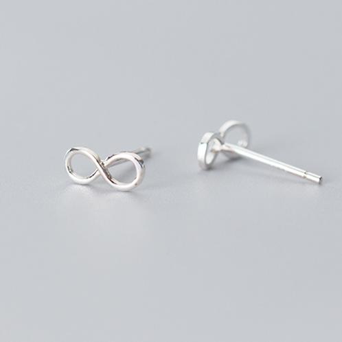 Infinity Loop Sterling Silver Ear Studs - MOOII