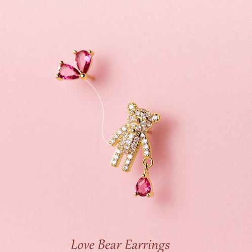 Love Bear Dangle Earrings - Mooii